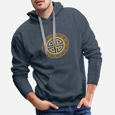 Celtic Thor bouclier noeud, amulette protection, celtique - Sweat-shirt à capuche Premium pour hommes