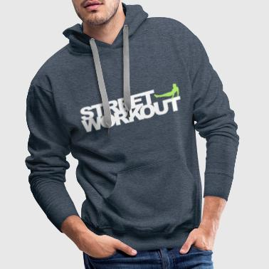 Street Fighter Street Workout - Sweat-shirt à capuche Premium pour hommes
