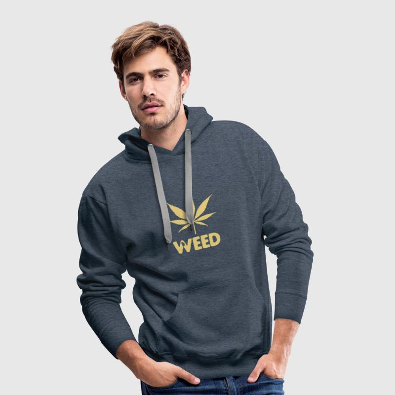 weed with leaf - Sweat-shirt à capuche Premium pour hommes