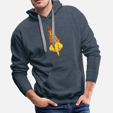 Fireworks elephant head in flame fire flame 310 - Men's Premium Hoodie