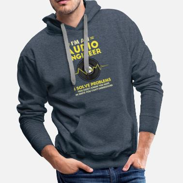 Equalizer &amp I'm An Audio Engineer Gift - Men's Premium Hoodie