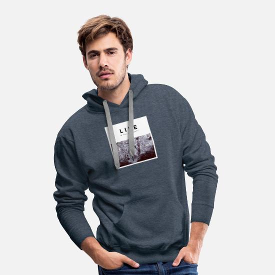 Art Hoodies & Sweatshirts - Botanic - Men's Premium Hoodie heather denim