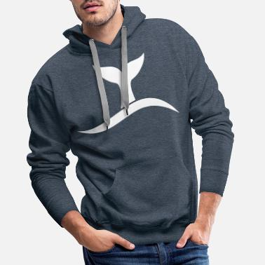 Whale WHALE ABOUT TO DIVE - WHALE FIN - Männer Premium Hoodie