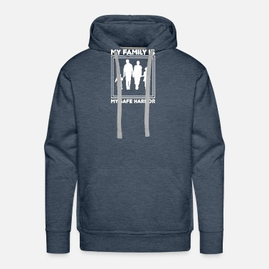 Family Crest Father, mother, family, father and son, father and - Men's Premium Hoodie