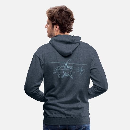 Help Hoodies & Sweatshirts - drawing - Men's Premium Hoodie heather denim
