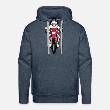 Divertente cartone animato di moto maglietta uomo spreadshirt