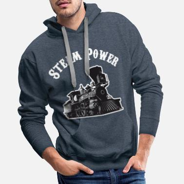 Steam Engine Locomotive steam locomotive steam locomotive steam power - Men's Premium Hoodie