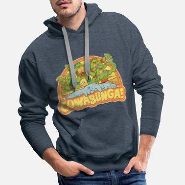Ninja TMNT Teenage Mutant Surfing Turtles - Men's Premium Hoodie