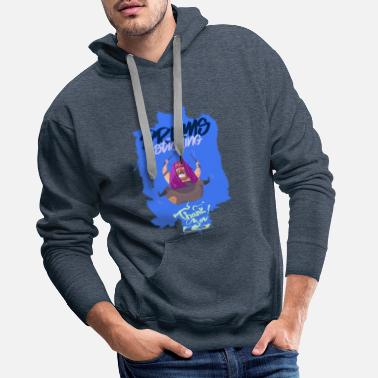 Mode Tambours collant - Sweat à capuche premium Homme
