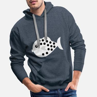 Coastal grass - fish - Men's Premium Hoodie