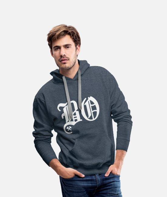 Bochum Hoodies & Sweatshirts - Bochum - Men's Premium Hoodie heather denim