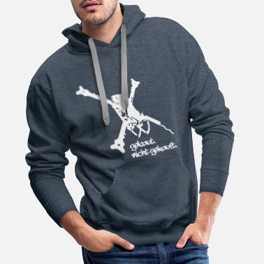 Freestyle Built. Not bought. FPV Quadcopter Drone - Men's Premium Hoodie