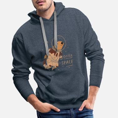 Stemming Otter Space Outer Space Otter Trend grappig - Mannen premium hoodie