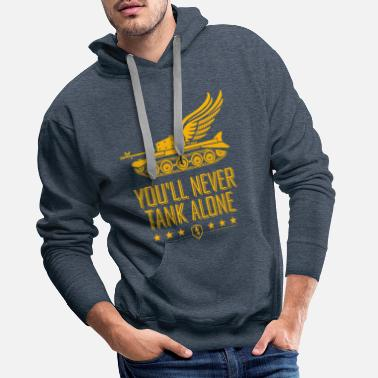 World World Of Tanks Blitz You'll Never Tank Alone - Men's Premium Hoodie