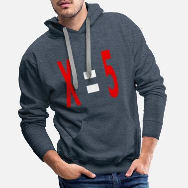 Variable Not Found x equals 5 v2 white - Men's Premium Hoodie
