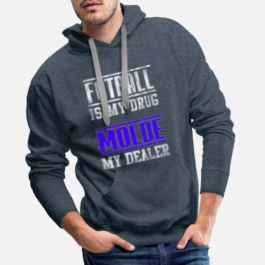 Interdiction Cadeau de football Molde - Sweat à capuche premium Homme