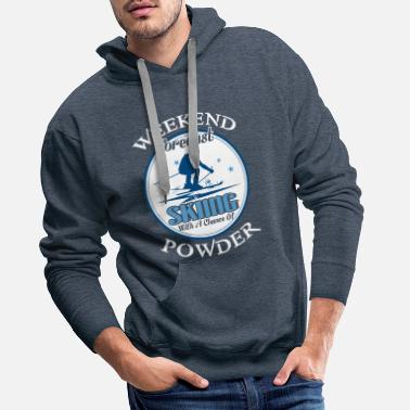 Skis Weekend Forecast Skiing With A Chance Of Powder - Männer Premium Hoodie