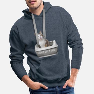 Funny Cat - I don´t give a shit. - Männer Premium Hoodie