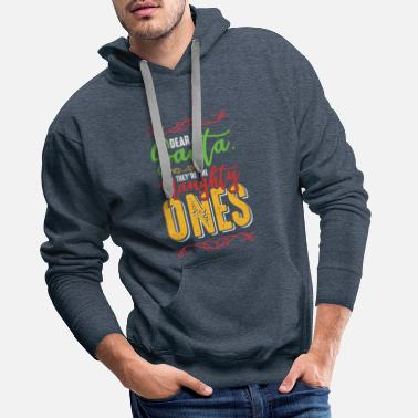 Naughty Christmas saying - Men's Premium Hoodie