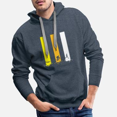 Triathlon Triathlon stripes - Men's Premium Hoodie