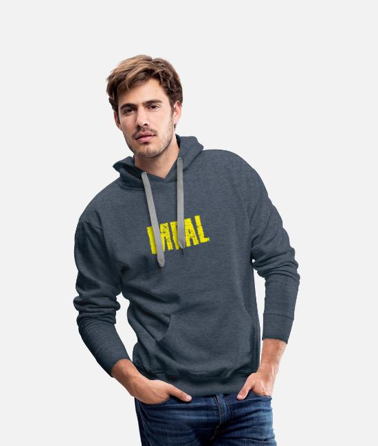 Love Hoodies & Sweatshirts - Meal - Men's Premium Hoodie heather denim
