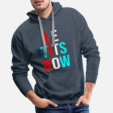 fet it snow sarcastic xmas - Men's Premium Hoodie