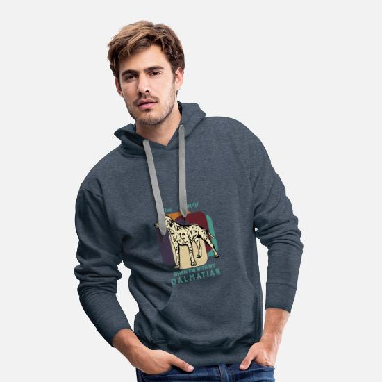 Birthday Hoodies & Sweatshirts - Dalmatian - Men's Premium Hoodie heather denim