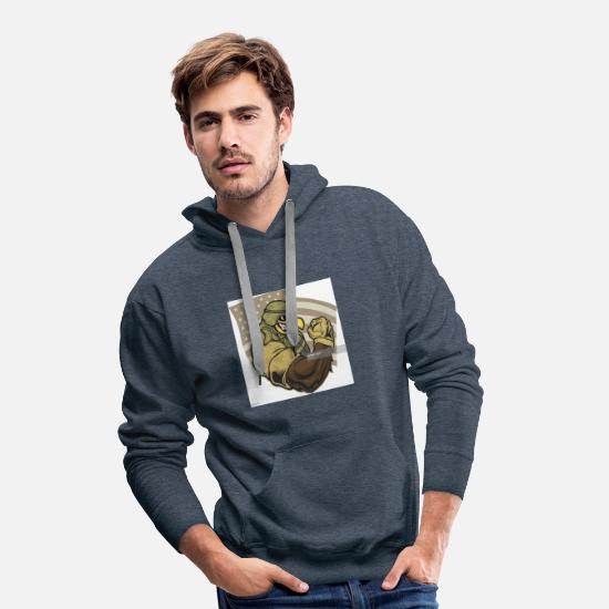 Special Forces Hoodies & Sweatshirts - Birdy - Men's Premium Hoodie heather denim