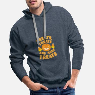 Treat Treats treats and more treats Pumpkin Candy corn - Men's Premium Hoodie