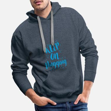 Giggle Keep on hugging! in blue - Men's Premium Hoodie