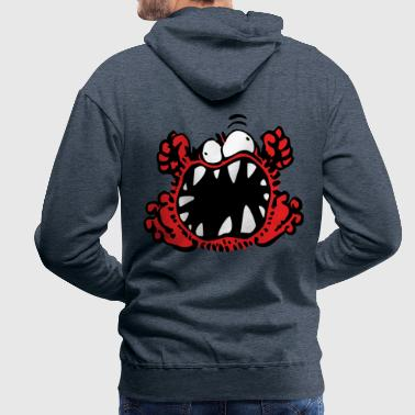 Petit Monstre en Colère by Cheerful Madness!! - Sweat-shirt à capuche Premium pour hommes