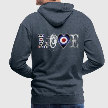 Mods Love Mods White - Men's Premium Hoodie