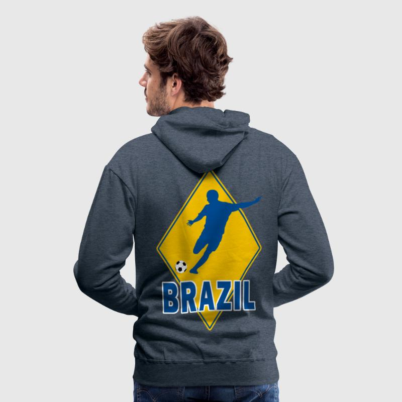 brazil football team - Sweat-shirt à capuche Premium pour hommes