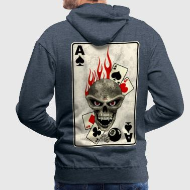 As De Pique poker card - Sweat-shirt à capuche Premium pour hommes