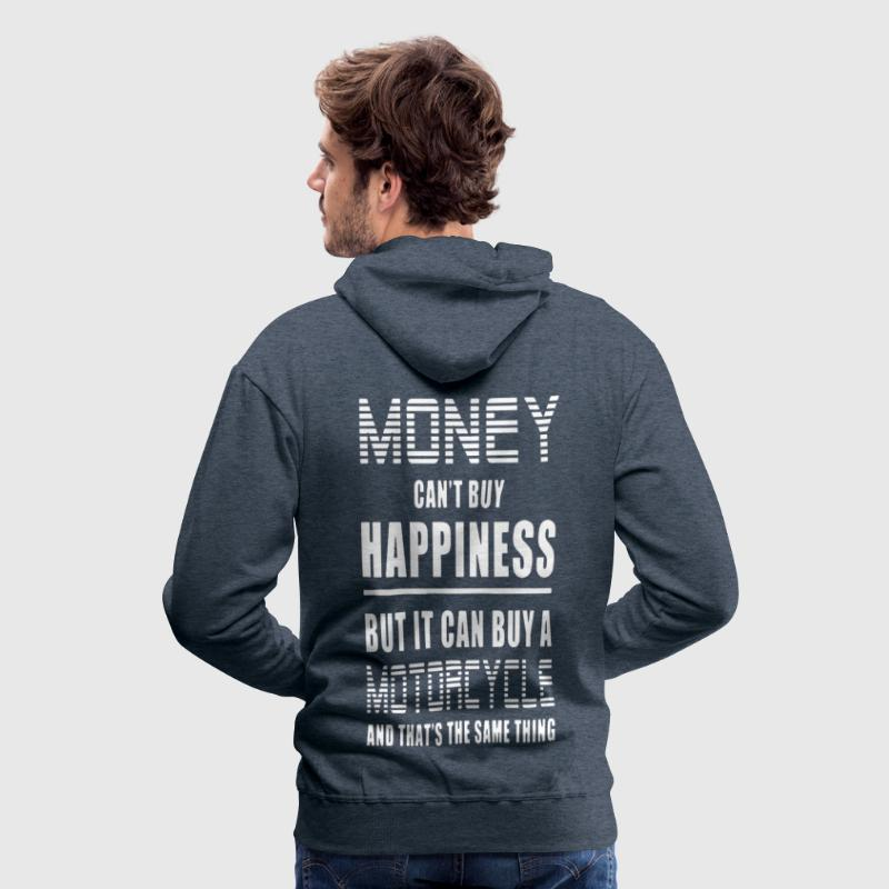 Money Can't Buy Happiness, But Motorcycle - Men's Premium Hoodie