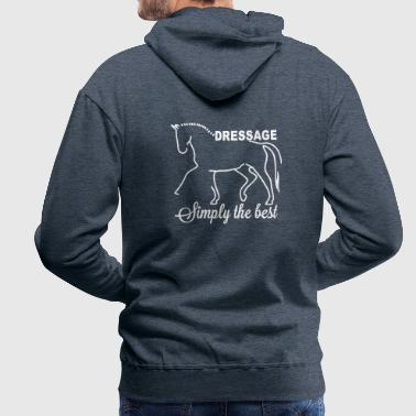 Dressage - simply the best - Sweat-shirt à capuche Premium pour hommes