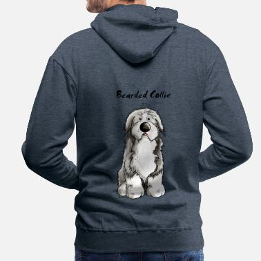 Bearded Collie Carino Bearded Collie - Bearded Collies - Felpa con cappuccio premium da uomo