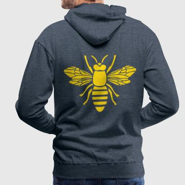 bee honey bumble bee honeycomb beekeeper wasp sting busy insect wings wildlife animal - Men's Premium Hoodie
