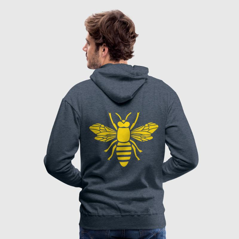 bee honey bumble bee honeycomb beekeeper wasp sting busy insect wings wildlife animal - Herre Premium hættetrøje