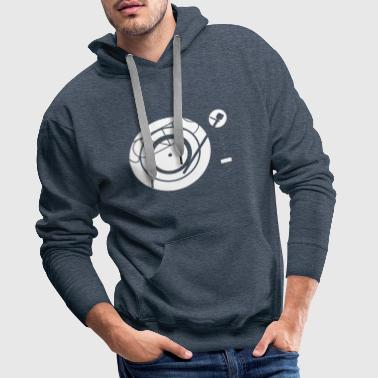 Kynda Music Turntable with - Men's Premium Hoodie