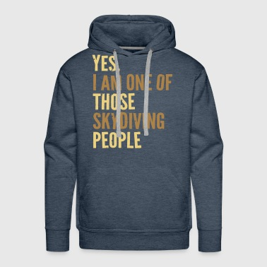 Skydiving People - Men's Premium Hoodie
