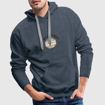 Mining: Mining is like a search-and-destroy - Men's Premium Hoodie