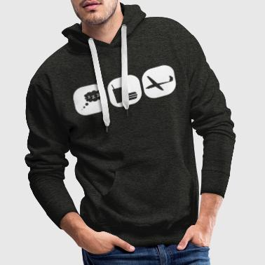 eat sleep gliding glider pilot - Men's Premium Hoodie