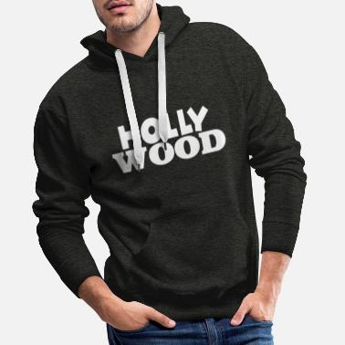 Hollywood Hollywood - Sudadera con capucha premium para hombre