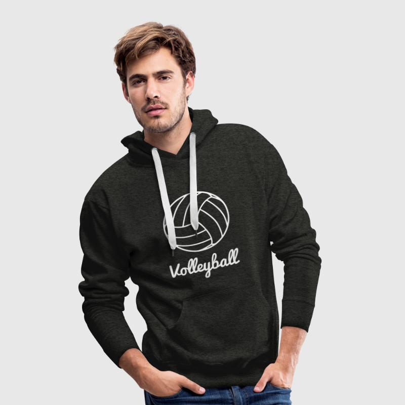 Volleyball Volley ball - Sweat-shirt à capuche Premium pour hommes