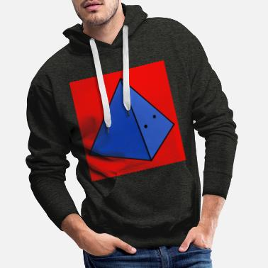 Piramide Piramid Red Background - Men's Premium Hoodie
