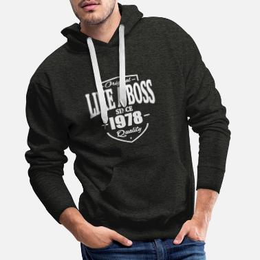Beard Like A Boss Since 1978 - Men's Premium Hoodie