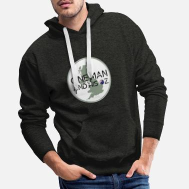 One Man and his Oz logo - Men's Premium Hoodie