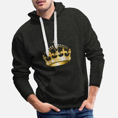 couronne d'or - Sweat à capuche premium Homme