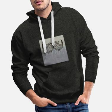 Mustache Underwear Hipster beard beard in the forest - Men's Premium Hoodie